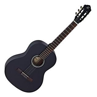 Ortega RST5 Student Series Full Size Classical Guitar, Black Satin