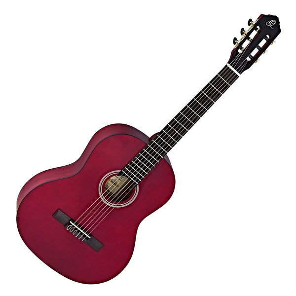 Ortega RST5 Student Series Full Size Classical Guitar, Wine Red Satin