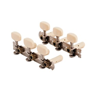 Guitarworks Classical Guitar Machine Heads, Round, Chrome