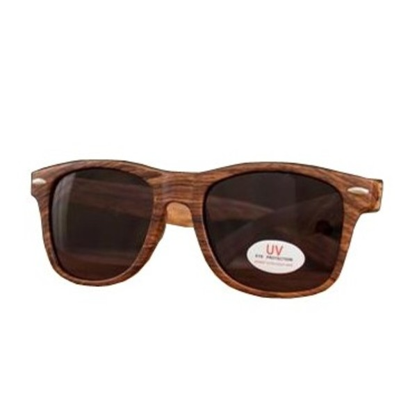 SJC Custom Drums Sunglasses, Wood Grain with White Logo