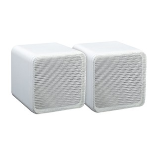 E-Audio Mini Box Speakers, White
