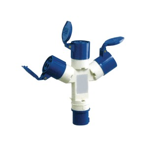 230 V Blue 16 A 3 Contact High Current In-line Socket
