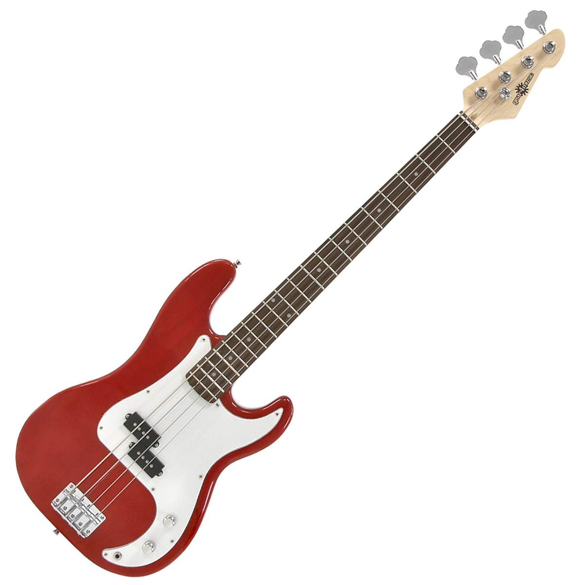 LA Bass Guitar By Gear4music Red B Stock At Gear4music