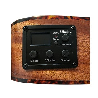 JM Forest JMFBC210EQ Mahogany Concert Electro Ukulele, EQ Interface