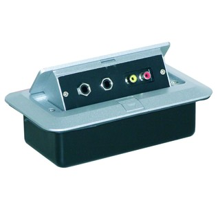 Eagle Pop-up AV Combination Plate With Jack Sockets & Phono Sockets