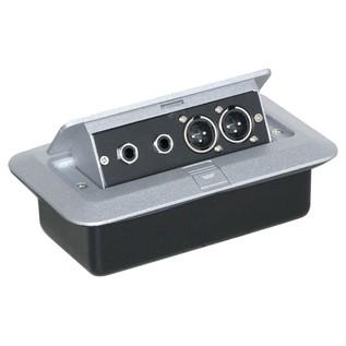 Eagle Pop-up AV Combo Plate, Jack Sockets & 3 Pin XLR Chassis Plugs
