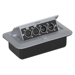 Eagle Pop-up AV Combo Plate With 3 Pin Chassis Plugs & XLR Sockets