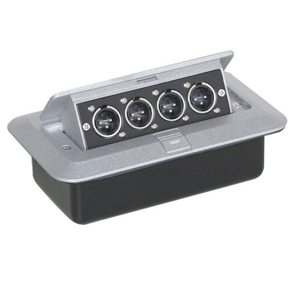 Eagle Pop-up AV Combination Plate With 4 x XLR Chassis Plugs
