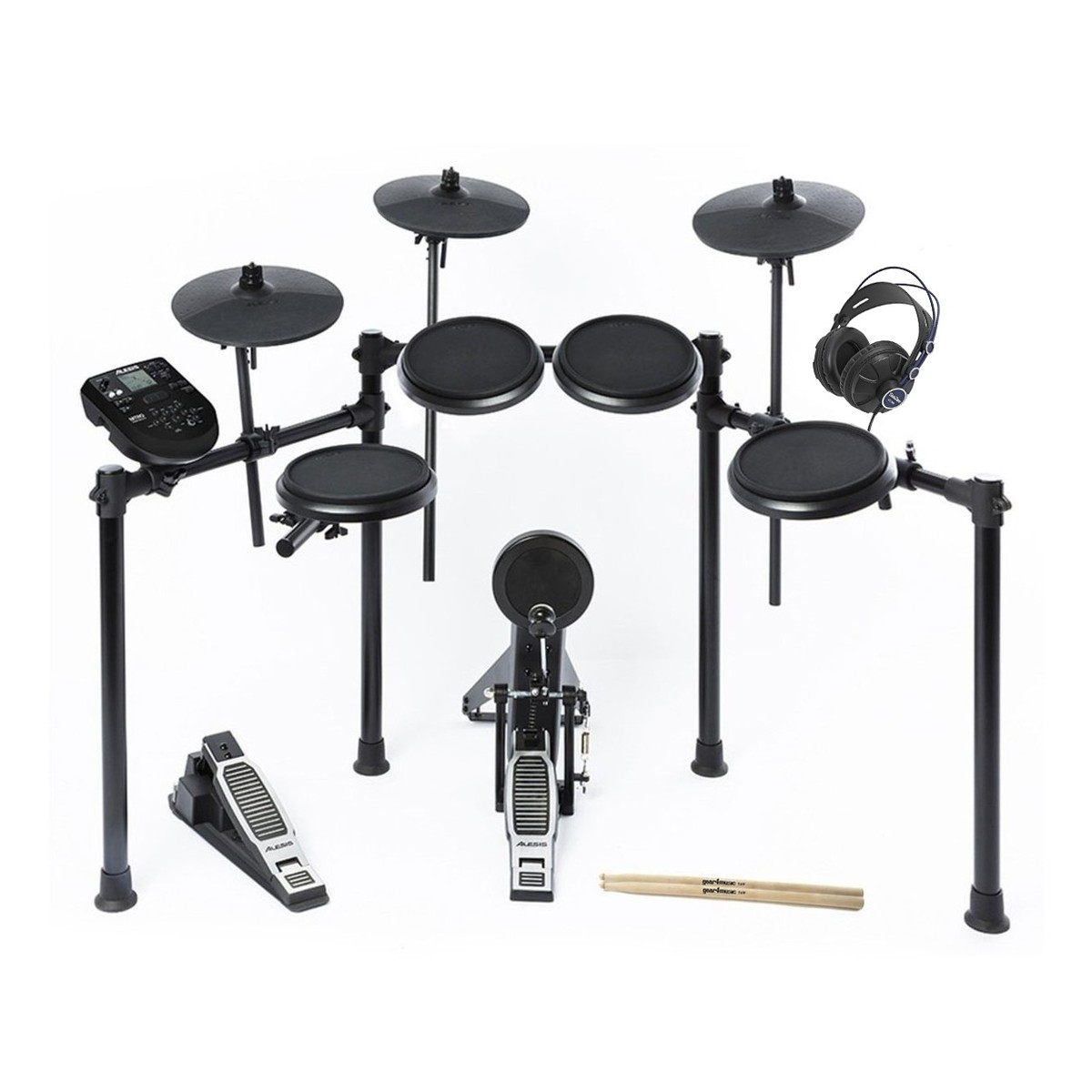 alesis nitro 8 piece electronic drum kit with headphones sticks at gear4music. Black Bedroom Furniture Sets. Home Design Ideas