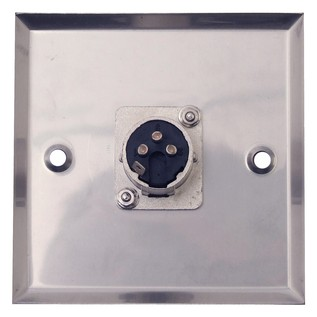 Eagle AV Wall Plate With 1 x 3 Pin XLR Connector