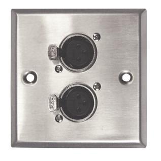 Eagle Metal AV Wall Plate With 2 x XLR Sockets
