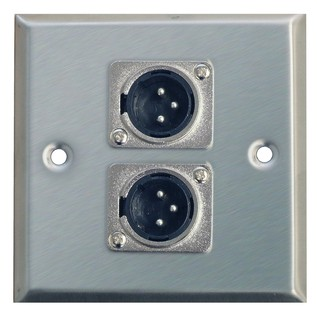 Eagle Metal AV Wall Plate With 2 x 3 Pin XLR Connectors
