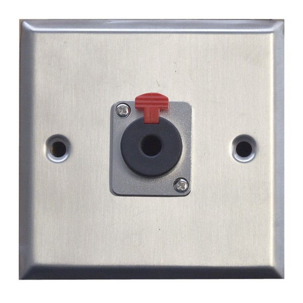 Eagle Metal AV Wall Plate With 1 x 6.35 mm Jack Socket