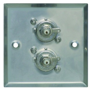 Eagle Metal AV Wall Plate With 2 x BNC Sockets