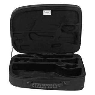 BAM New Trekking Bb Clarinet Case and Music Stand, Silver Carbon