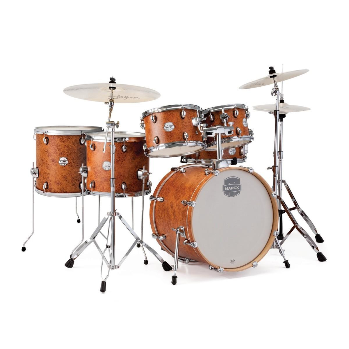Mapex Storm 22u0027u0027 Rock Fusion Drum Kit W/ Free Floor Tom, Camphor Wood