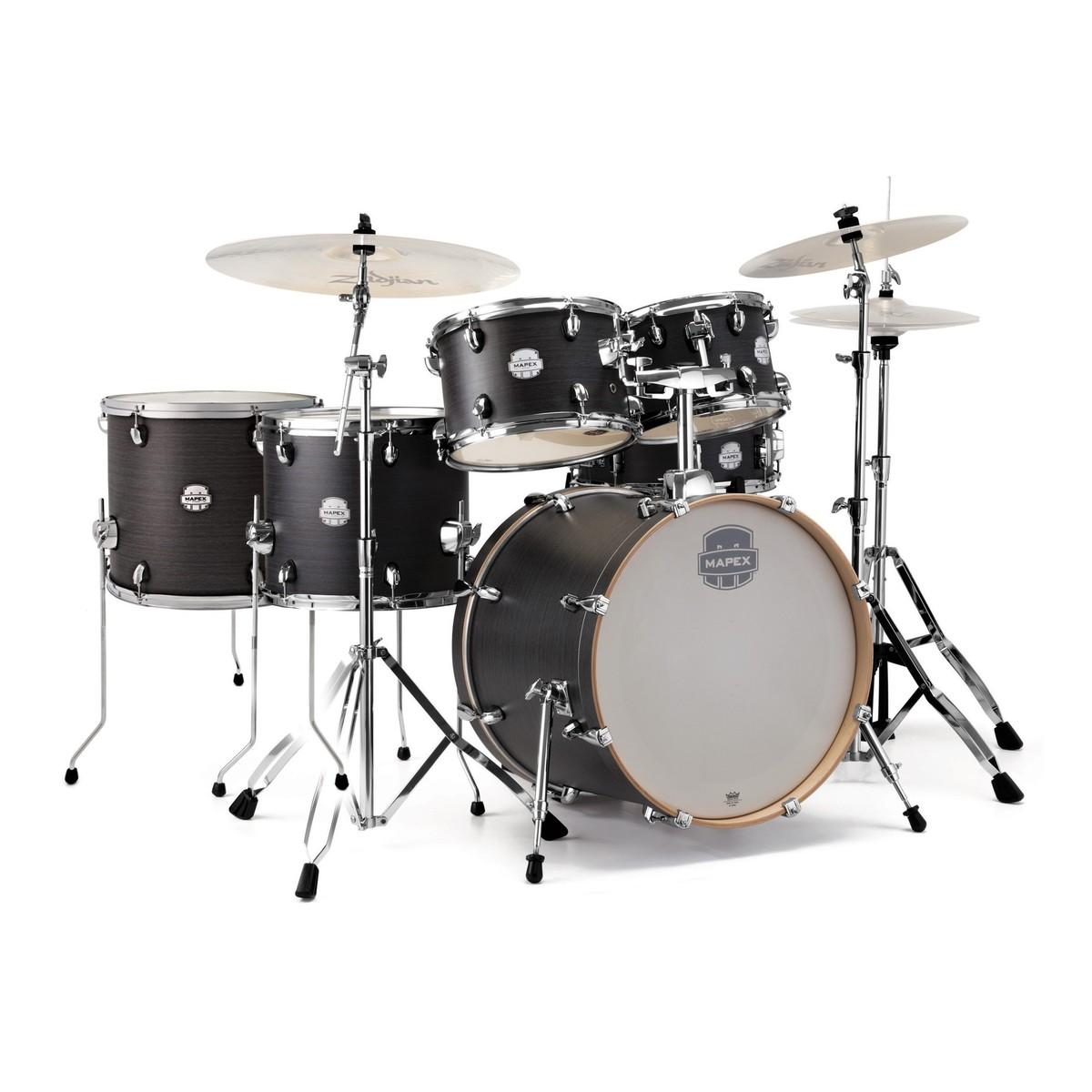 mapex storm 22 39 39 rock fusion drum kit w free floor tom ebony blue at. Black Bedroom Furniture Sets. Home Design Ideas