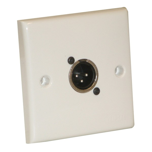 Eagle AV Wall Plate With 1 x 3 Pin Male XLR Socket
