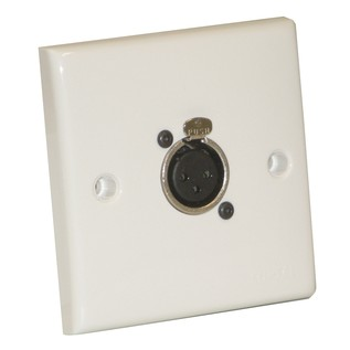 Eagle AV Wall Plate With 1 x 3 Pin Female XLR Socket