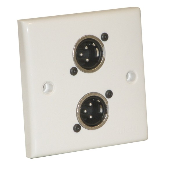 Eagle AV Wall Plate With 2 x 3 Pin Male XLR Socket