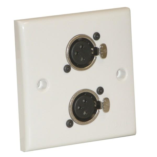 Eagle AV Wall Plate With 2 x 3 Pin Female XLR Socket