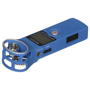 Zoom H1 Recorder with Accessory Pack, Blue - Zoom H1 Angled Flat 2