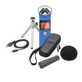 Zoom H1 Recorder with Accessory Pack, Blue - Bundle
