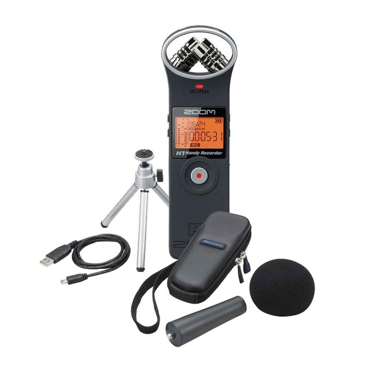 Zoom H1 Con Accessori Musical Instruments & Gear Pro Audio Equipment