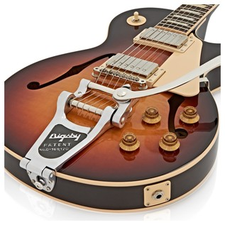 Gibson Memphis ES Les Paul Hollow 2016 Guitar, Bourbon Burst