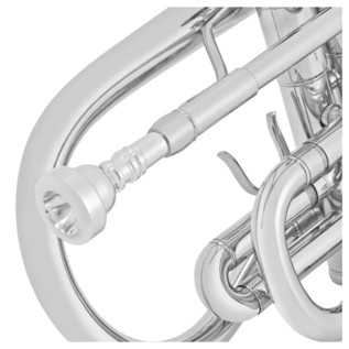 Coppergate Intermediate Cornet, Silver, By Gear4music