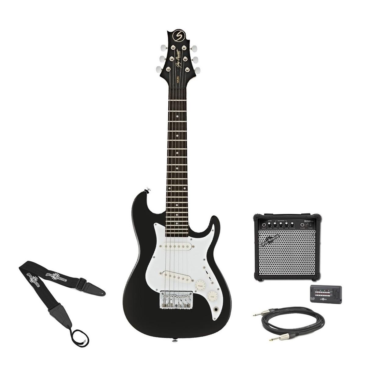 disc greg bennett malibu mmb 1 mini electric guitar amp pack black at gear4music. Black Bedroom Furniture Sets. Home Design Ideas