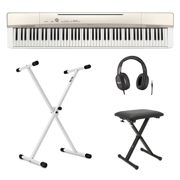 Casio Privia PX-160 Digital Piano White, X Frame Package