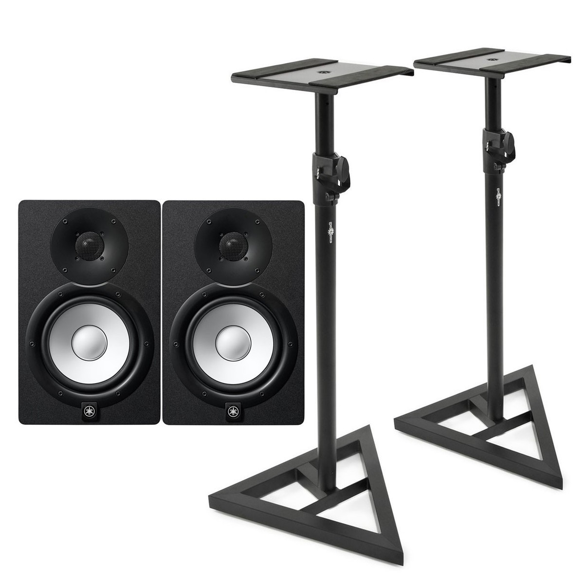 yamaha hs7 active studio monitors pair with stands at. Black Bedroom Furniture Sets. Home Design Ideas