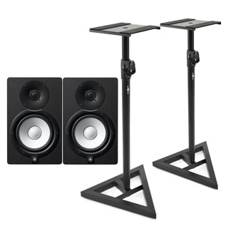 Yamaha HS7 Active Studio Monitors with Stands - Bundle