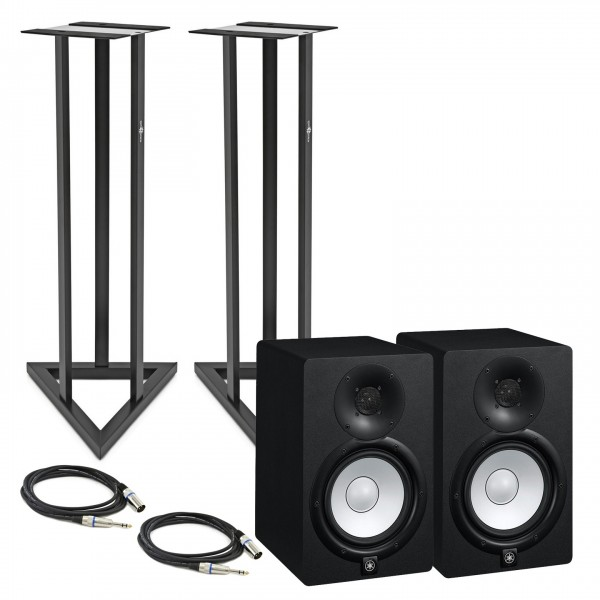 Yamaha HS8 Active Studio Monitors (Pair) with Stands and Cables - Bundle