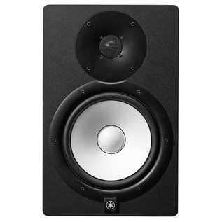 Yamaha HS8 Active Studio Monitors (Pair) with Stands and Cables - Front