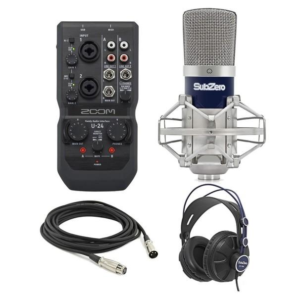 Zoom U-24 Recording Bundle