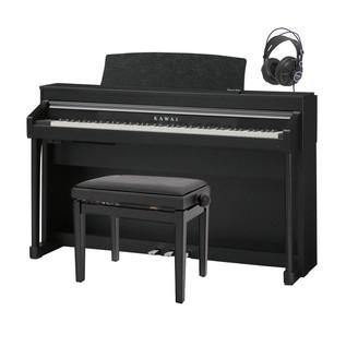 Kawai Concert Artist CA67 Digital Piano Package, Satin Black