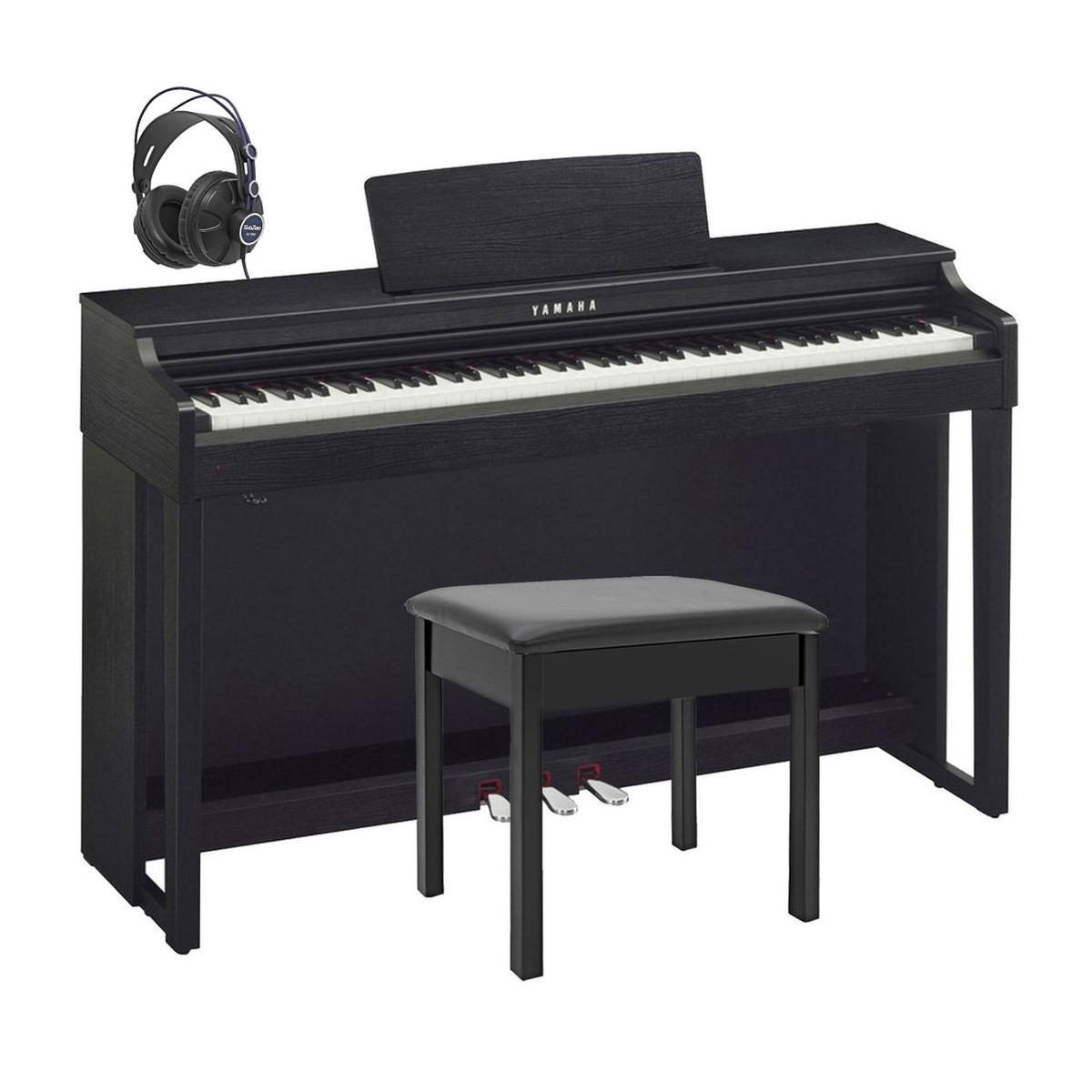 Yamaha clp525 clavinova digital piano package black for Yamaha digital piano clavinova