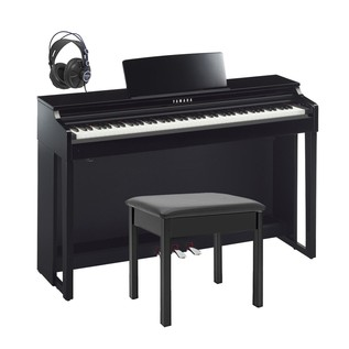 Yamaha CLP525 Clavinova Digital Piano Package, Polished Ebony