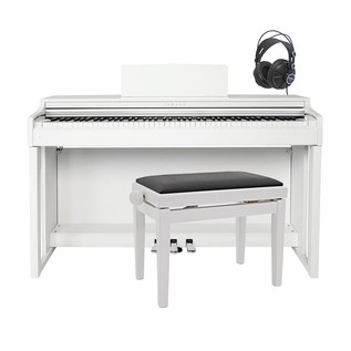 Yamaha CLP525 Clavinova Digital Piano Package, White
