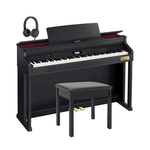 Casio Celviano AP-700 Traditional Digital Piano Package, Satin Black
