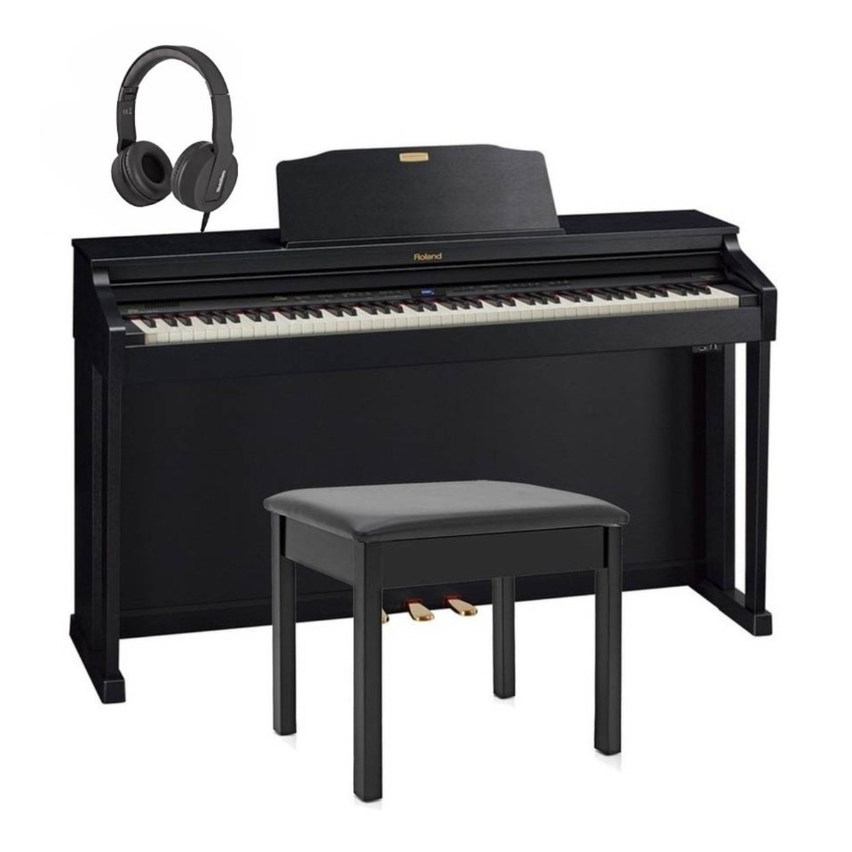 roland hp504 digital piano package contemporary black at gear4music. Black Bedroom Furniture Sets. Home Design Ideas