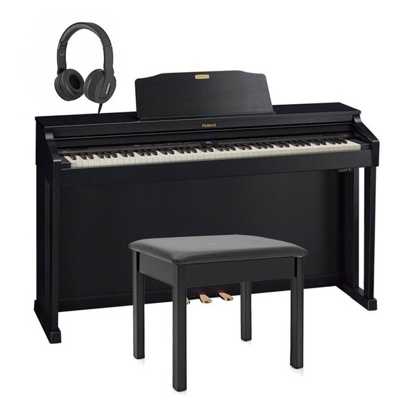 Roland HP504 Digital Piano Package, Contemporary Black