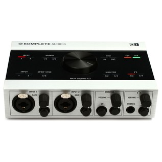 Native Instruments Komplete Audio 6 USB Audio Interface - Front Top