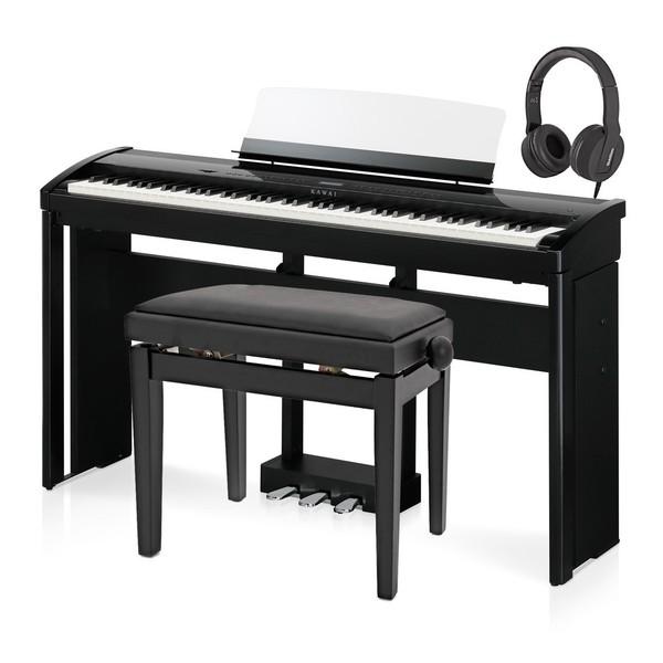 Kawai ES8 Digital Stage Piano Deluxe Package, Black