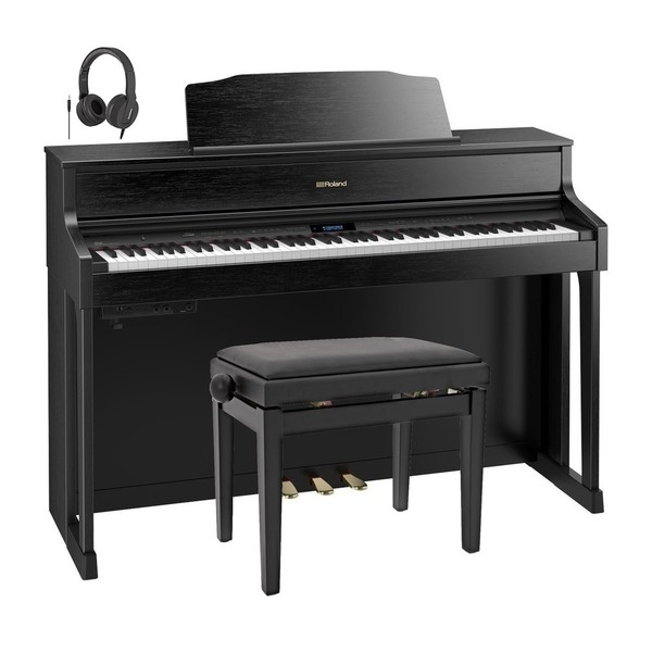Roland HP605 Digital Piano Package, Contemporary Black