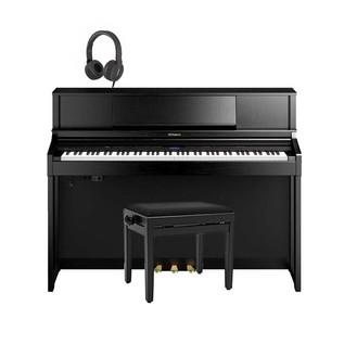 Roland LX7 Digital Piano Package, Contemporary Black