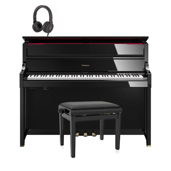 Roland LX17 Digital Piano Package, Polished Ebony
