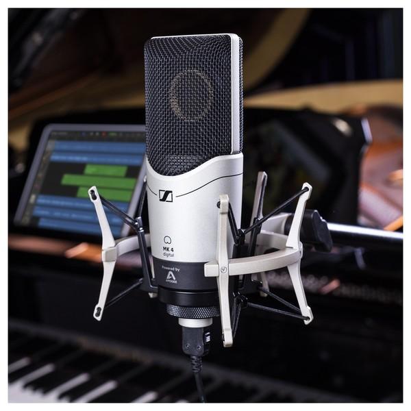 Sennheiser MK4 Mikrofon med Stort Membran, Sidevendt + Pakke
